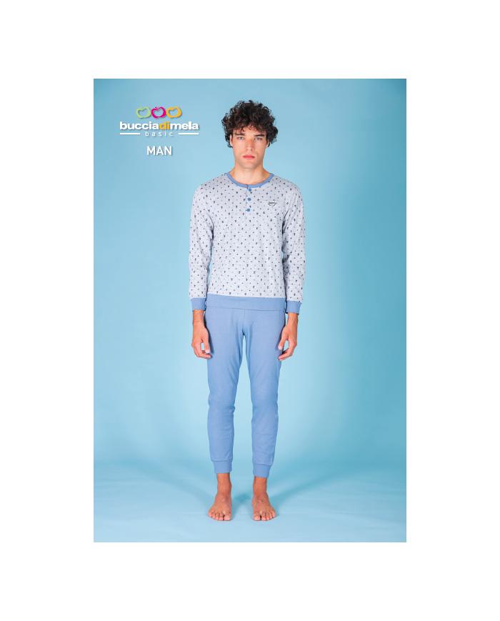 Pigiama in puro cotone manica lunga e pantalone lungo 100%- Art. BDM227A